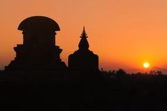 Myanmar (Burma), Mrauk U temple Royalty Free Stock Image