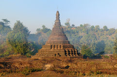 Myanmar (Burma), Mrauk U temple Royalty Free Stock Photo