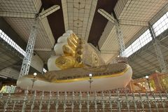 Yangon Bago buddha golden foot. Myanmar Burma Yangon bago buddha golden foot stock images