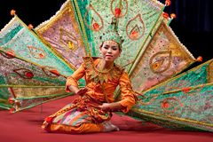 Myanmar classical Dance Stock Photo
