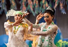 Myanmar Classical Dance Royalty Free Stock Photo