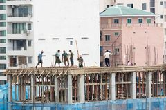 Free Myanmar Construction Work In Yangon City Stock Photo - 158725810