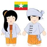 Myanmar_costume Стоковые Фото