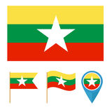 Myanmar,country flag Royalty Free Stock Images