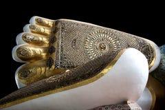 Myanmar, de voeten van Boedha Stock Fotografie