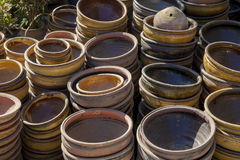 Myanmar, earthen pots Stock Images