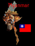 Myanmar Educational Poster Royalty Free Stock Photography