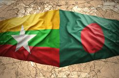 Myanmar et le Bangladesh Images stock