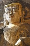 myanmar för buddha inlelake skulptur Arkivbilder