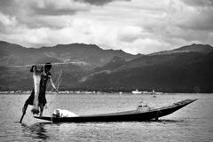 Myanmar fisherman Royalty Free Stock Photo