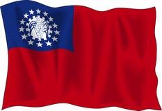 Myanmar flag Stock Photography