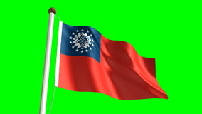 Myanmar flag stock video