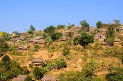 Myanmar flyktingläger Arkivbild