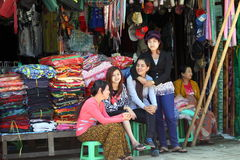 Myanmar folk Royaltyfria Foton