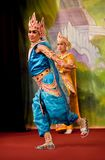 Myanmar Folk Dance Royalty Free Stock Photography