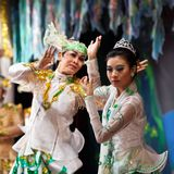 Myanmar Folk Dance Stock Photo