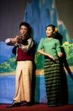 Myanmar Folk Dance Royalty Free Stock Photos