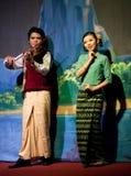 Myanmar Folk Dance Royalty Free Stock Photo