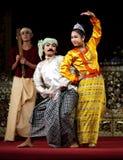 Myanmar Folk Dance Stock Image