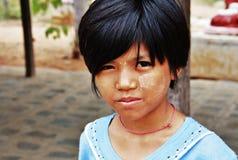 Myanmar girl portrait Stock Images