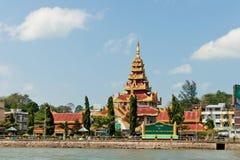 Myanmar grensstrandboulevard Stock Foto
