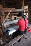 Myanmar hand-loom woman Stock Photo