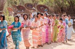 Myanmar het leven Royalty-vrije Stock Afbeelding
