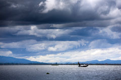 Myanmar, het leven in het Meer Inle Stock Foto