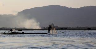 Myanmar, het meer Stock Afbeelding