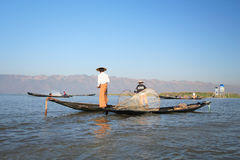 Myanmar Inle湖看法  免版税库存图片