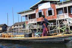 Myanmar Inle湖看法  库存照片
