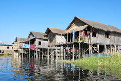 Myanmar Inle湖看法  免版税图库摄影