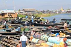 Myanmar Inle湖看法  免版税库存照片