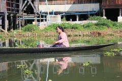 Myanmar Inle湖视图 免版税库存图片