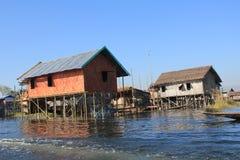 Myanmar Inle湖 免版税库存图片