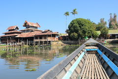 Myanmar Inle湖 免版税图库摄影