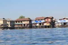 Myanmar Inle jeziora widok Obrazy Stock