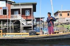 Myanmar Inle jeziora widok Obraz Royalty Free