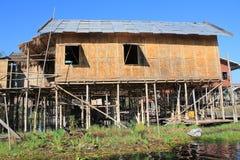 Myanmar Inle jeziora widok Obrazy Royalty Free