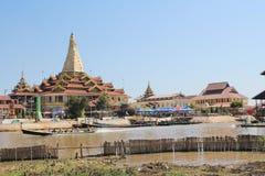 Myanmar Inle jeziora widok Zdjęcie Royalty Free