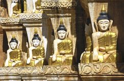 Myanmar, Inle Lake: Buddha images Royalty Free Stock Photo