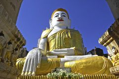 Myanmar, Inle Lake: Buddha sculpture Royalty Free Stock Photos