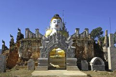 Myanmar, Inle Lake: Buddha sculptures Royalty Free Stock Photos