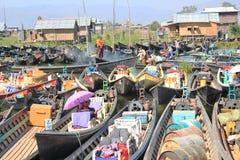 Myanmar Inle Meer Stock Afbeelding