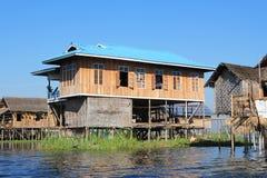 Myanmar Inle Meer Stock Foto's