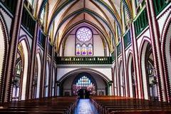 Myanmar inre av kyrkan Royaltyfri Bild
