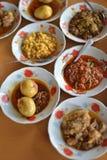 Myanmar jedzenia set Obrazy Stock