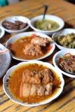 Myanmar jedzenia set Zdjęcia Royalty Free