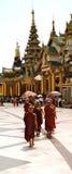 Myanmar jonge monniken Royalty-vrije Stock Fotografie