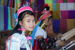 Myanmar Kayan folk Fotografering för Bildbyråer